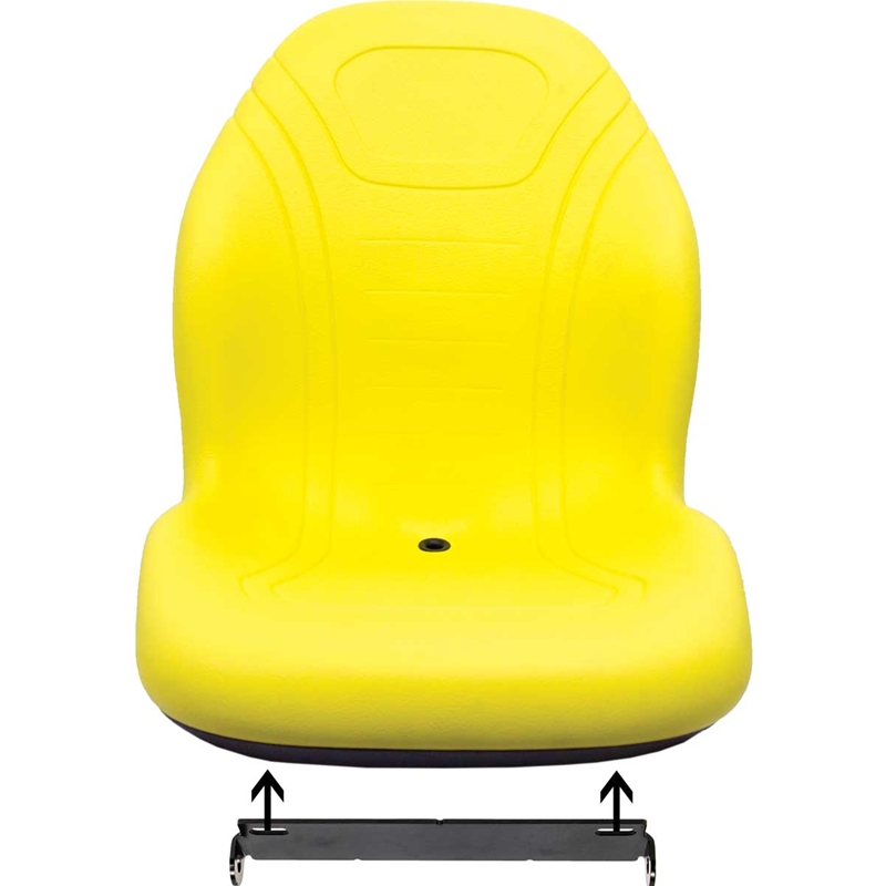 John Deere 129 Skid Steer Bucket Seat with Hinge Bracket